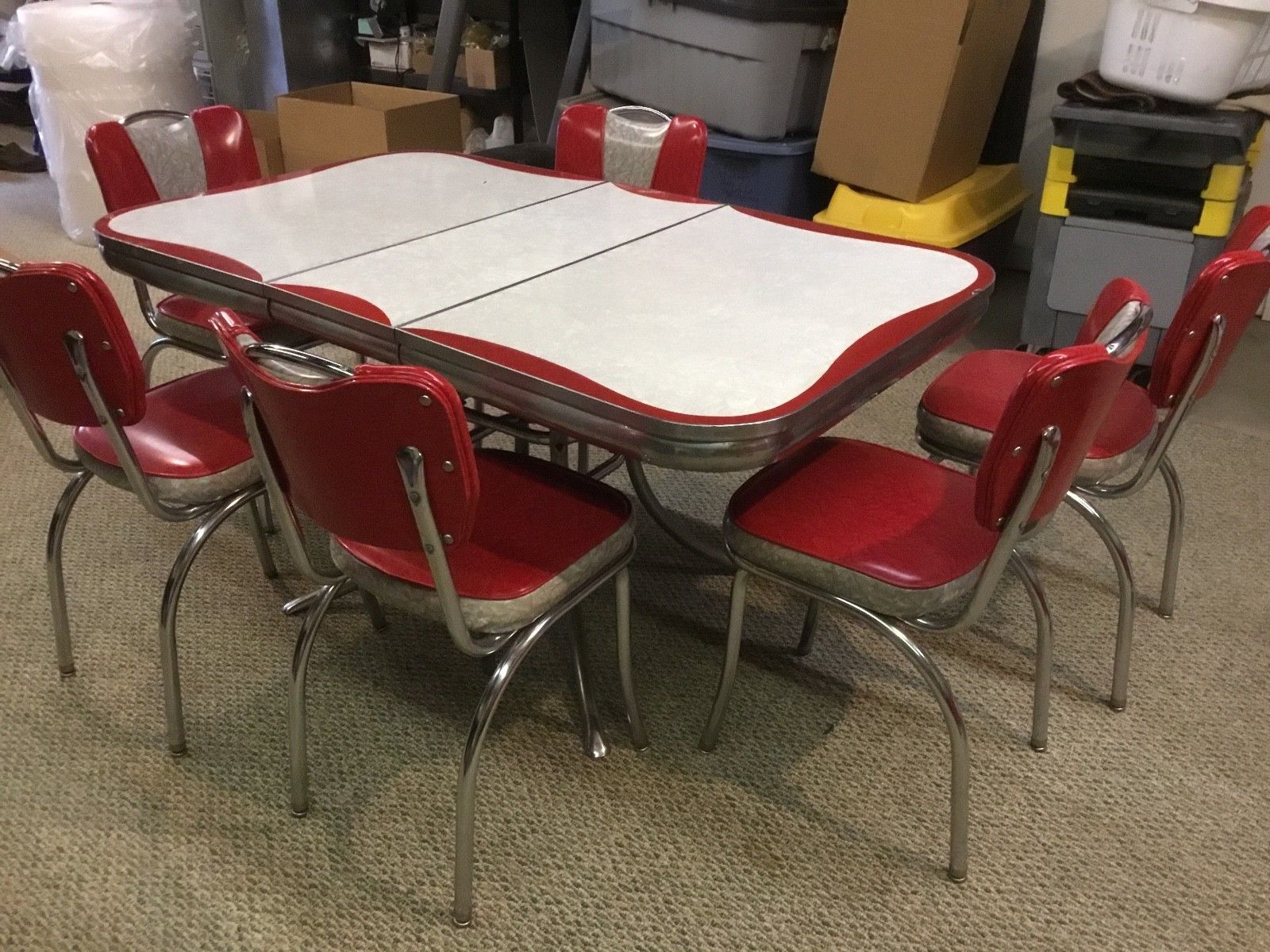 vintage 1950s formica chrome kitchen table and chairs