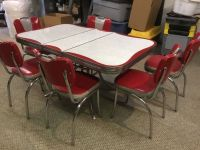 vintage 1950s formica chrome kitchen table and chairs ...