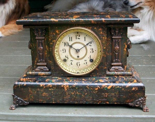Antique Seth Thomas Adamantine Mantle Clock .1890