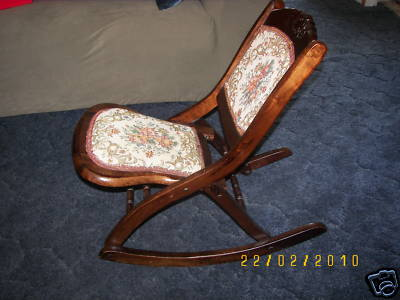 folding rocking chair wood office riser heavy duty chairs antiques on