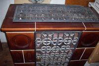 Weso brown tile coal or wood stove barely used -- Antique ...