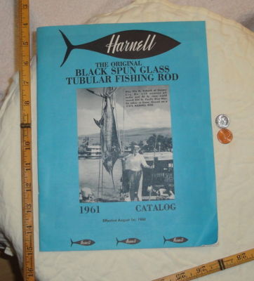 Harnell fishing rod catalog 1961 28 page with price list in catalog