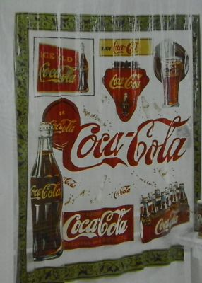 CocaCola Shower Curtain 70x72