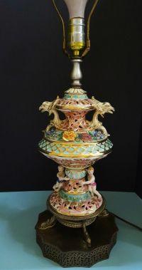 Capodimonte Lamps Made In Italy. Vintage Capodimonte ...