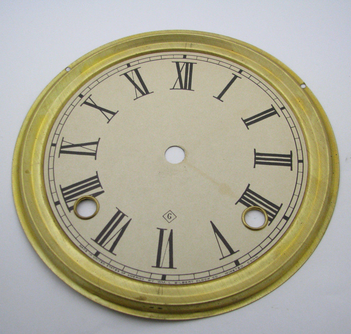 gilbert kitchen clock espresso cabinets antique dial and pan parts repair
