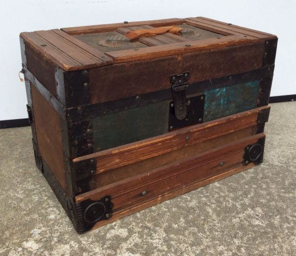 Vintage Small Steamer Trunk 16 X 10 1 2 9