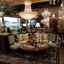Lighting, glassware, sterling silver, rugs, textiles, etc. – (Ann Porter)