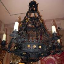 Lighting archives antiques of pasadena 1920s spanishitalian wrought iron chandelier pair available aloadofball Choice Image