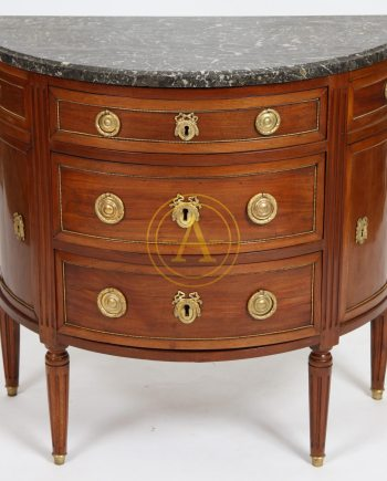 COMMODE DEMI-LUNE LOUIS XVI