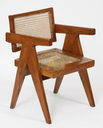 """OFFICE CANE ELEGANT CHAIR"" de Pierre JEANNERET"