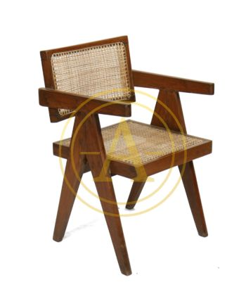 "FAUTEUIL ""OFFICE CANE ELEGANT CHAIR"" DE Pierre JEANNERET"
