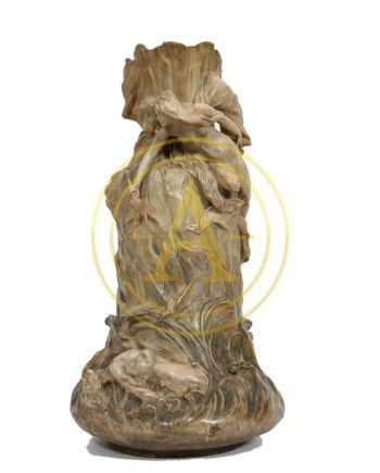 IMPORTANT VASE ART NOUVEAU DE GOLDSCHEIDER SIGNE DE « CHERE »