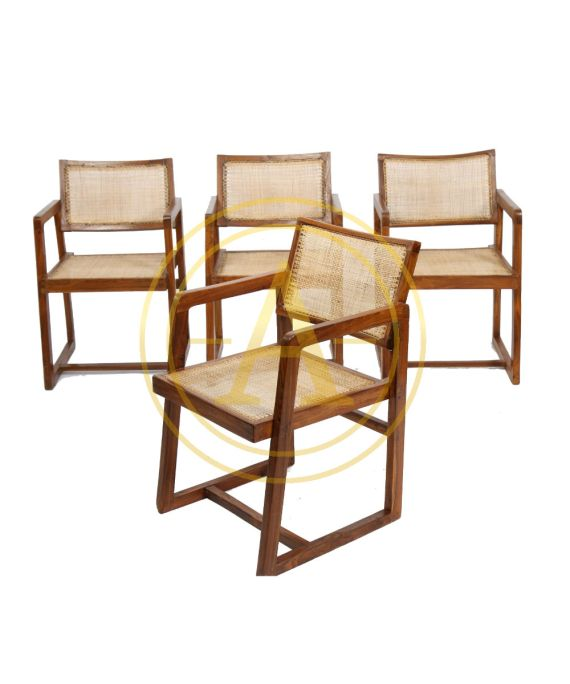 """CANE SEAT BACK OFFICE CHAIR"" DE Pierre JEANNERET"