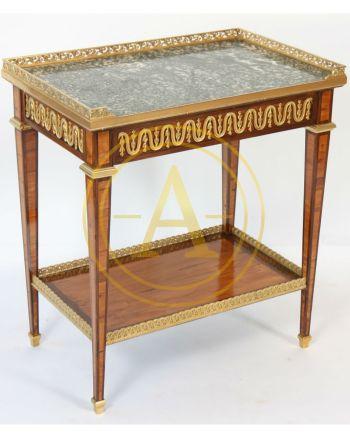 TABLE DE SALON D'APPARAT MARQUETEE LOUIS XVI DANS LE GOUT DE SORMANI