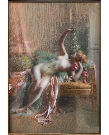 """""""Le repos du modèle"""" de Delphin Enjolras (1857-1945)"""