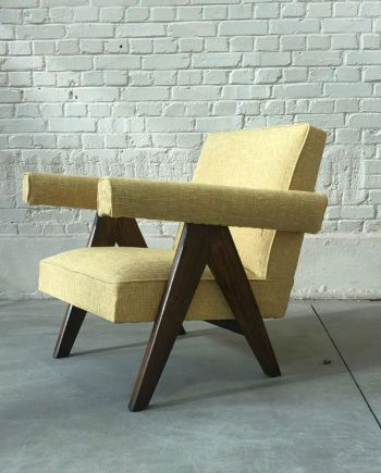 """Upholstered sofa easy chair"" de Pierre Jeanneret (1896-1967)"
