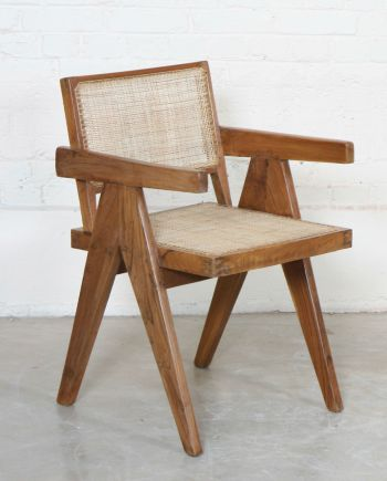 """OFFICE CANE CHAIRS"" de Pierre JEANNERET (1896-1967)"