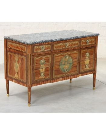 COMMODE MARQUETEE LOUIS XVI