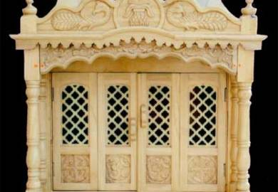 Pooja Carved Wooden Door Designs