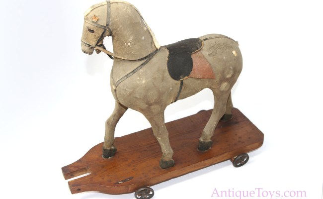 German Wood And Suede Pull Toy For Sale Antique Toys For