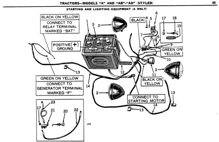6 Volt Positive Ground Generator Wiring Diagram Database