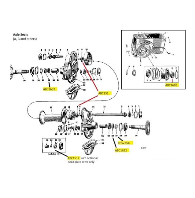 ABC131 Inner Rear Axle Seal
