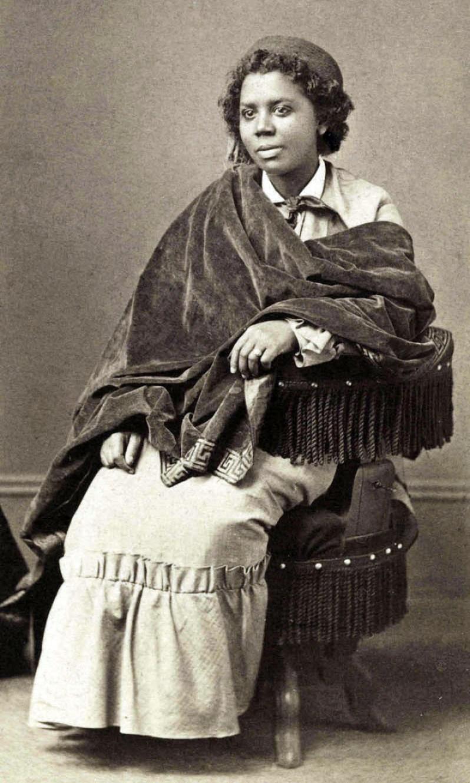 Edmonia Lewis, impresión de albúmina, c.1870.