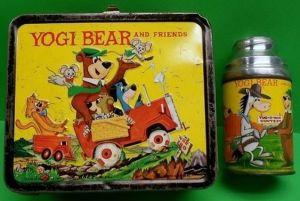 Yogi bear, lunch box, antique lunch box, gift