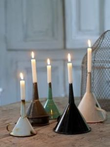 Funnel, Candle holders, Shabby Chic