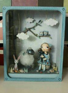 diorama, family, family heirloom