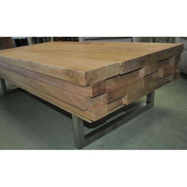 Table Basse Coffre Contemporaine Design Italien Chene Massif