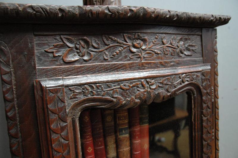 Ancienne Vitrine Normande En Chne Sculpt French