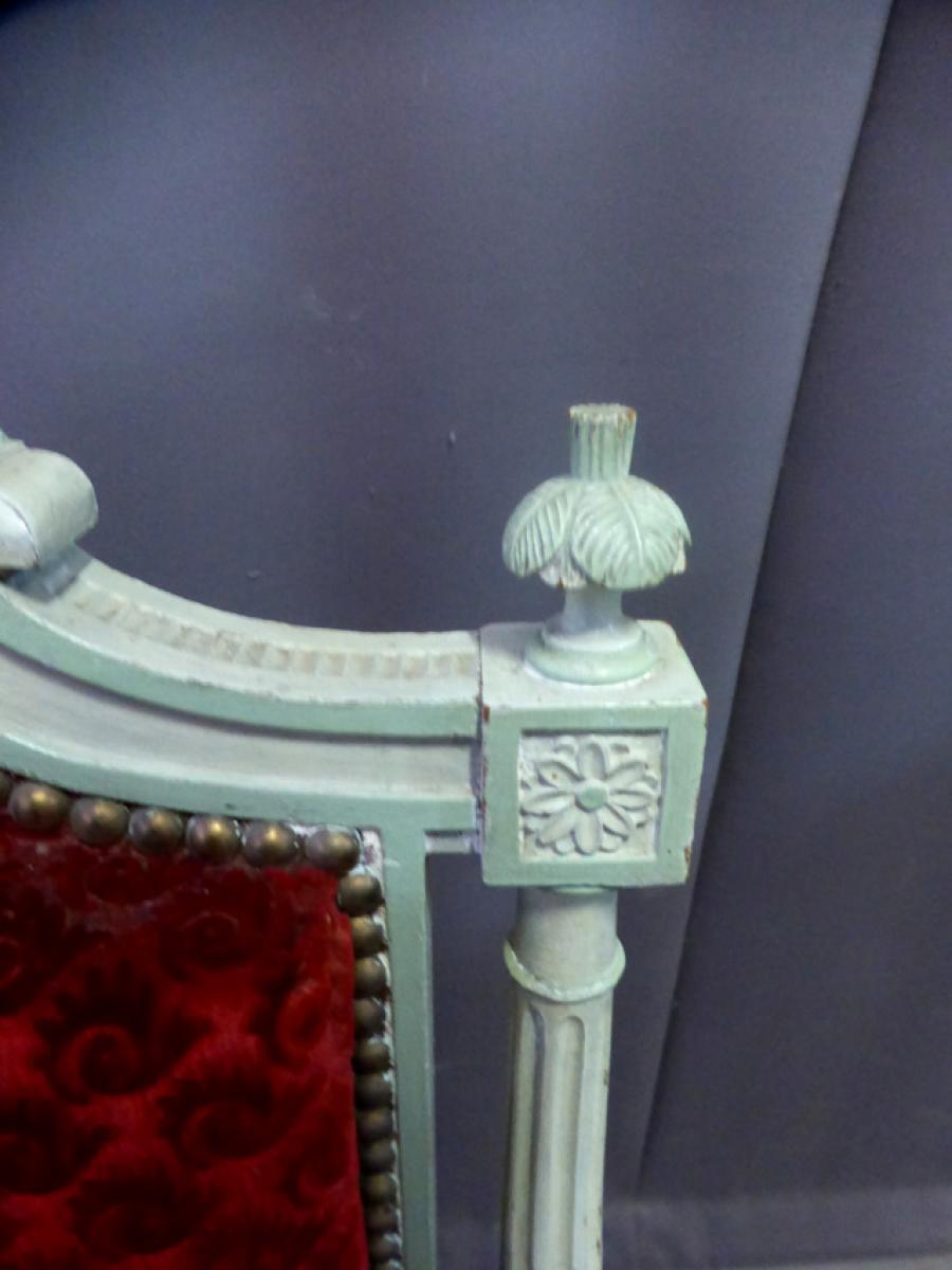 Paire De Fauteuils Style Louis XVI Philippe Cote Antiquites