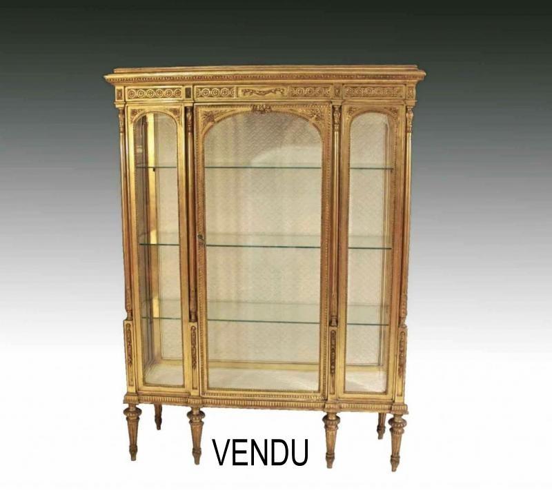 Vitrines Louis XVI Antiquites En France