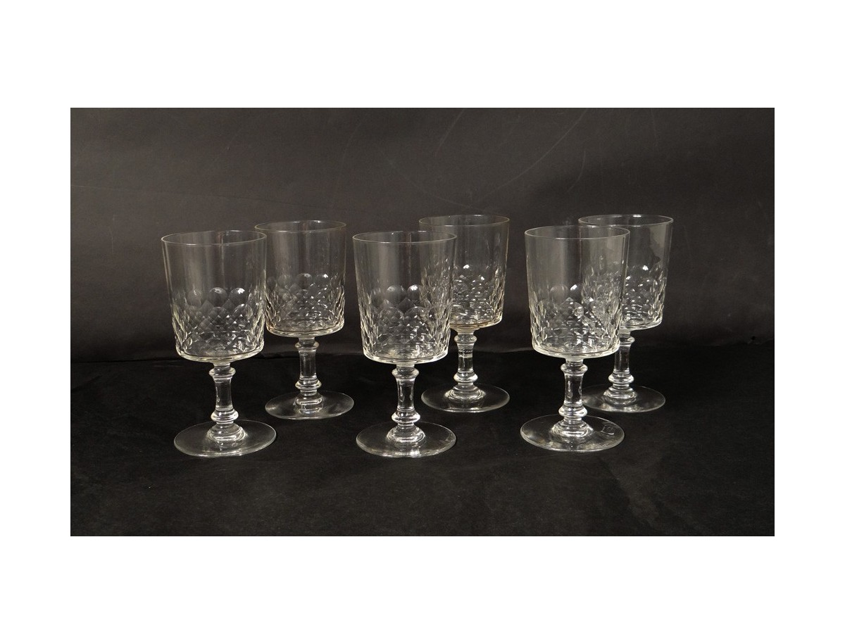 S 233 Rie 6 Verres Cristal St Louis Antique French Crystal