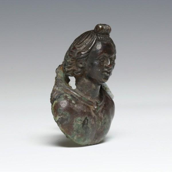 Fine Roman Bronze Appliqué Of Apollo