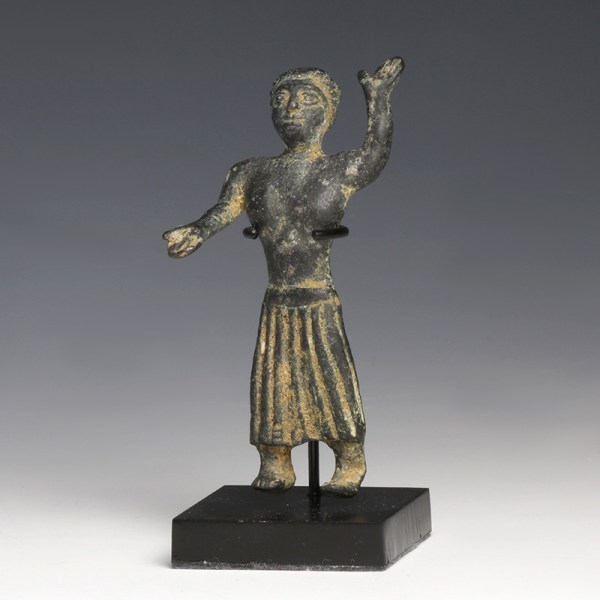 Nabataean South Arabian Bronze Offerant Statue