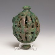 Rare Large Luristan Bronze Horse Bell