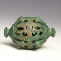 Rare large Luristan iron-age bronze horse bell