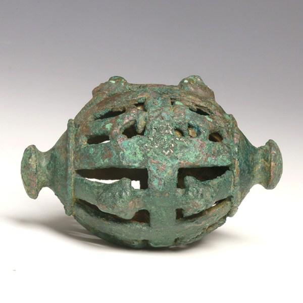 Rare Large Luristan Bronze Horse Bell