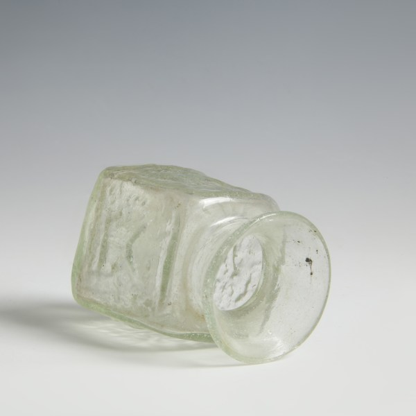 Glass Mould Blown Panelled Jar