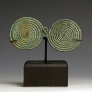 Italic Bronze Double Spectacle Brooch