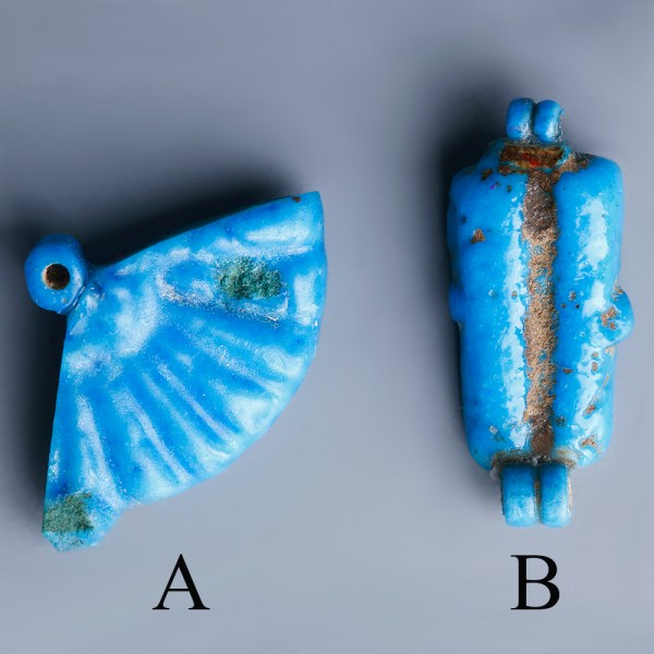 Brilliant Blue Amarna Beads