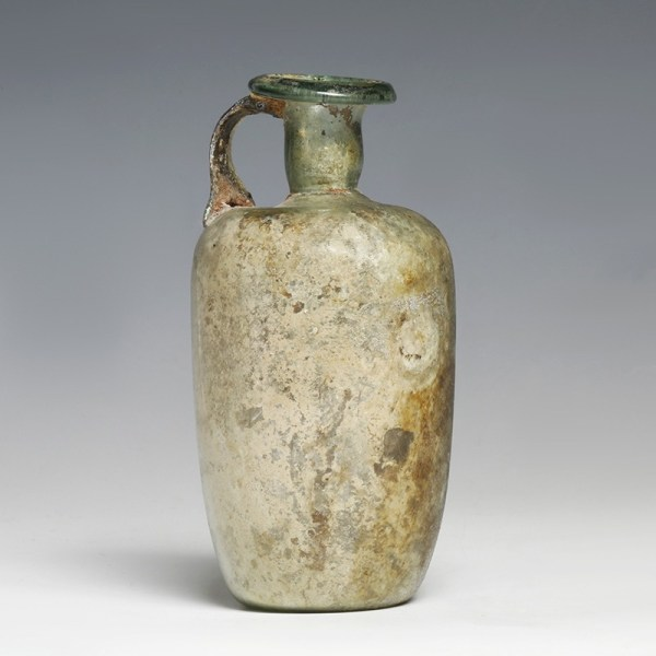 Roman Glass Cylindrical Bottle