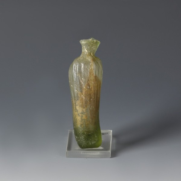 Roman Green Glass 'Date' Flask