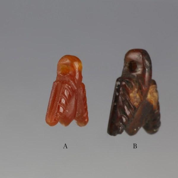 Egyptian Red Jasper Fly Amulets