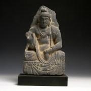Gandharan Stone Bodhisattva Maitreya