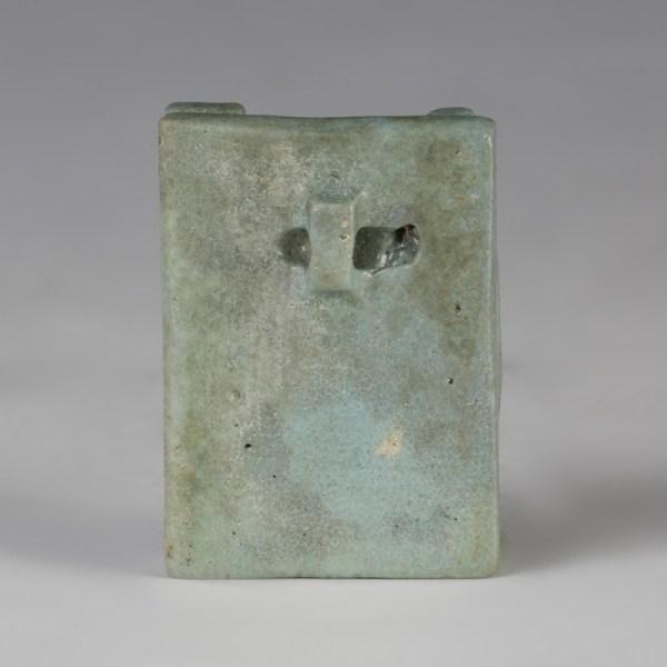 Glazed Egyptian Faience Osirian Triad Amulet
