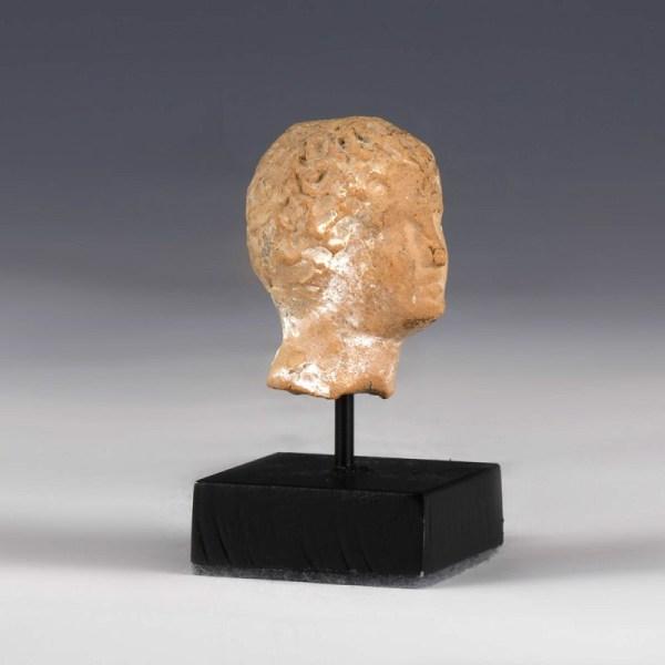 Greek Stone Head of a Male Youth