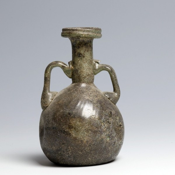 Roman Twin-Handled Glass Flask